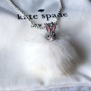 Kate spade bunny puff necklace